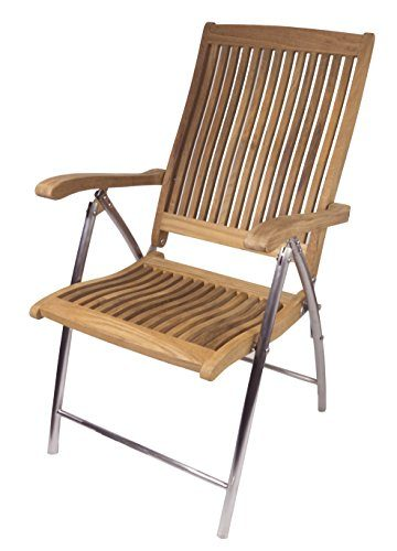 SeaTeak Windrift Folding 6-Position Boat Deck Chair
