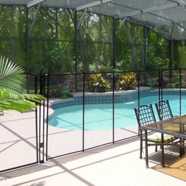 Sentry Safety Pool Fence Visiguard Removable Child Barrier Pool Safety Mesh Fence