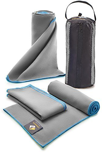 OlimpiaFit Set of 3 Microfiber Lightweight Swim Towels