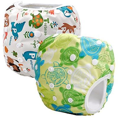 Storeofbaby Washable Cloth Cover 2pcs Swim Diapers