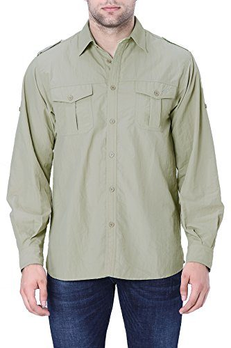 Trailside Supply Co. Men's Convertible Long Sleeve Nylon Fishing Shirt