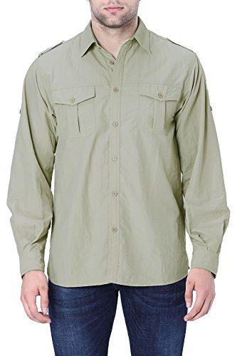 Trailside Supply Co. Men's Convertible Long Sleeve Nylon Fishing Shirt