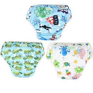 Wegreeco Baby & Toddler Snap One Size Reusable Swim Diapers