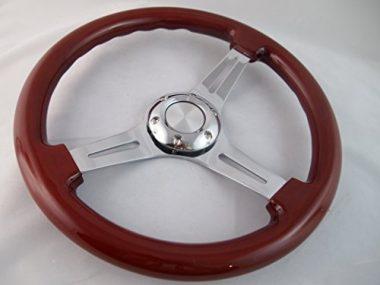 H-A-Motorsports Wood Boat Steering Wheel