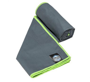 Quick Dry Travel Towel with Carry Bag by Youphoria Outdoors
