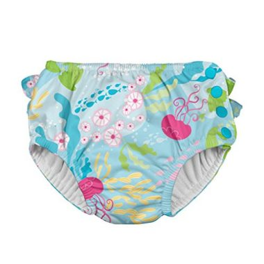 Ruffle Snap Reusable Absorbent Swimsuit Diaper by i play