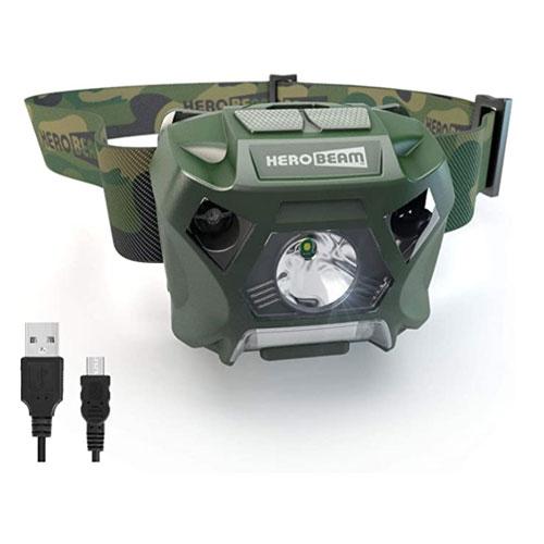 HeroBeam USB Rechargeable Fishing Headlamp