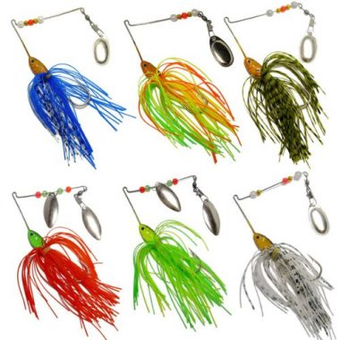 FREE FISHER 6 Fishing Hard Spinner Lures For Pike