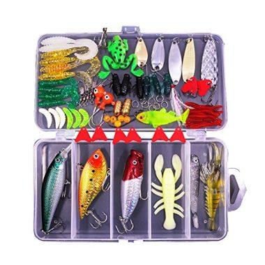 Sptlimes 77-Pcs Fishing Lures Kit Set