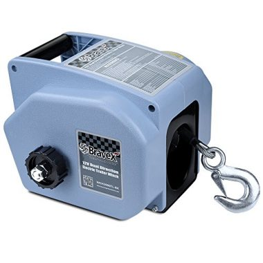 Electric Winch (Corded Remote Control & Hand Crank) by Bravex