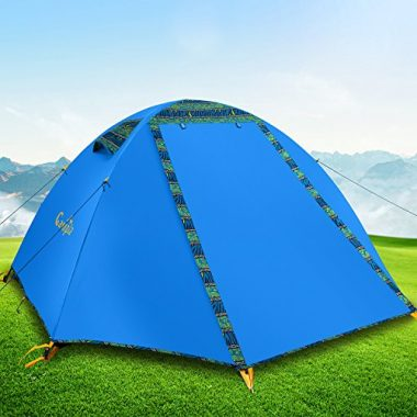 Campla Tent for camping outdoors, Backpacking Tents with LED Fit 2 3 Person 3 Season Lightweight Waterproof Tent