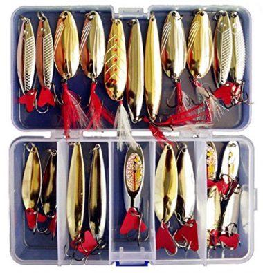 Victoronlineshop Fishing Lures Metal Spoons Hard Baits