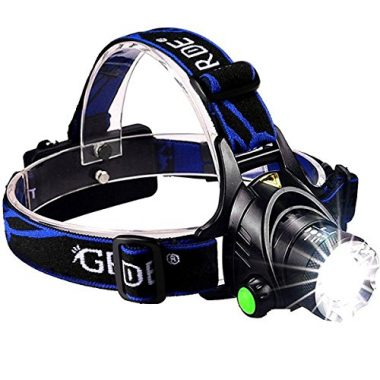 GRDE Zoomable 3 Modes Super Bright LED Fishing Headlamp