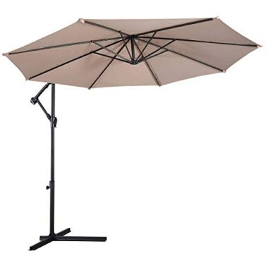 Giantex Hanging Umbrella Patio 10′ Sun Shade Hot Tub Accessory