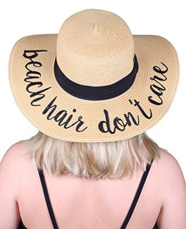 Women's Bold Cursive Sun Hat By Funky Junque