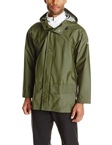Helly Hansen Workwear Men's Mandal Durable Waterproof Hooded Rain Coat Jacket
