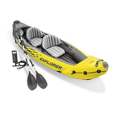 Intex Explorer K2 Kayak, 2-Person Inflatable Sit On Top Kayak