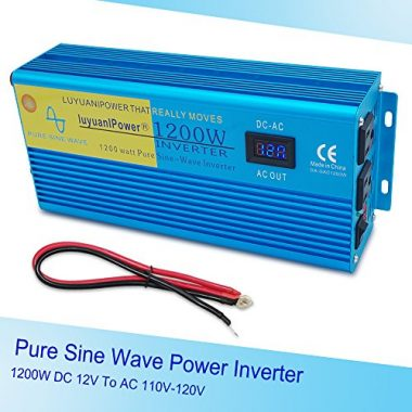 Pure Sine Wave Power Inverter with LCD Display by IpowerBingo