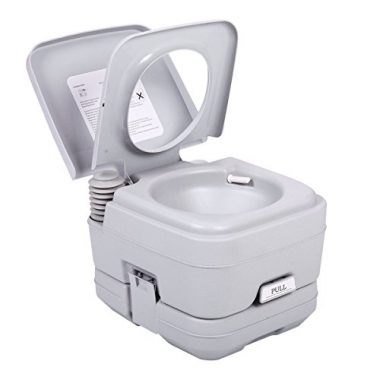 Porta Potti Outdoor Indoor Toilet by JAXPETY