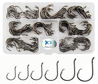 JSHANMEI 150pcs/box Circle 2X Strong Hooks For Catfish