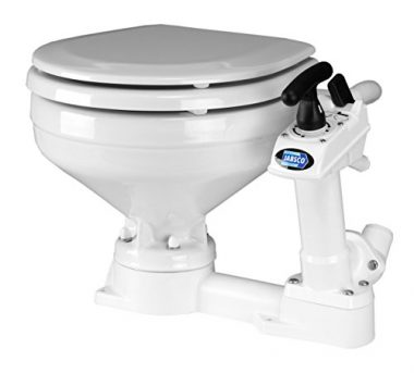 Jabsco Twist 'n' Lock Manual Head, Marine Toilet