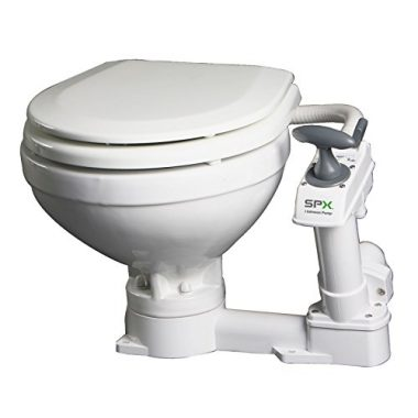 AquaT Compact Manual Marine Toilet 80-47229-01 by Johnson Pumps
