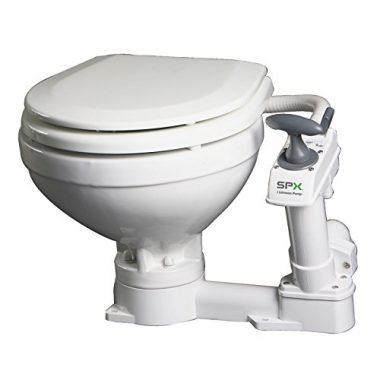 AquaT Compact Manual Marine Toilet 80-47229-01 by Johnson Pumps