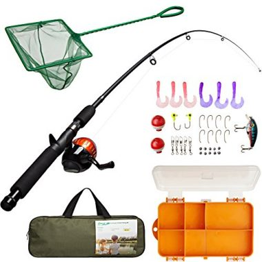 Lanaak Kids Fishing Pole and Tackle Box