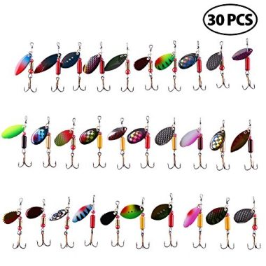 LotFancy 30PCS Inline Spinner Baits for Trout