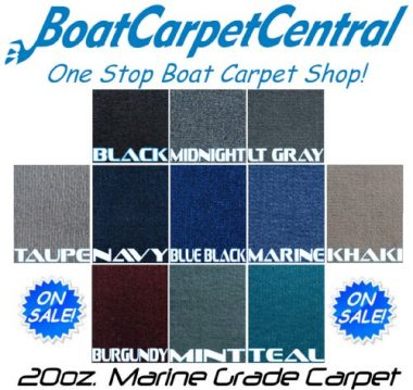 Marine Outdoor Pontoon Boat Carpet/20oz/10colors by Better Marine Carpet