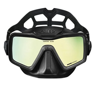 OMER Unisex-Adult Apnea Monolens Mirror Spearfishing Mask