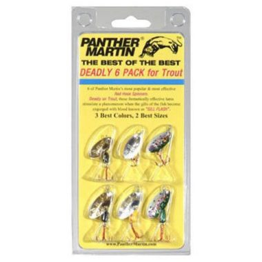 Panther Martin Holographic Spinner Lure Best of the Best 6 pack Kit