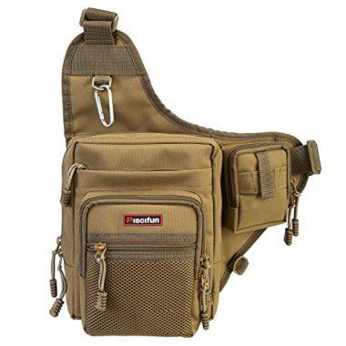 Piscifun Waterproof Tackle Bag Fly Fishing Sling Pack