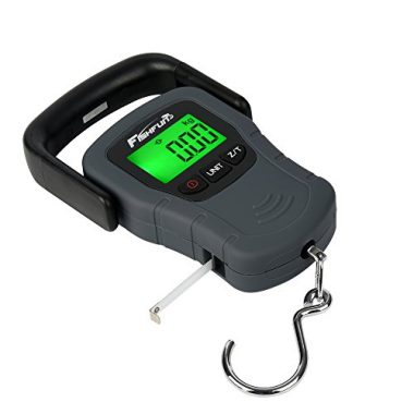 Portable Electronic Balance Digital Fishing Scale Hook Hanging with Tape Measure