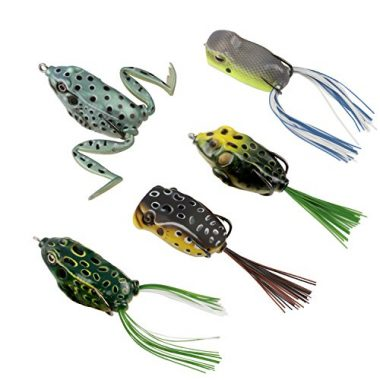 RUNCL Topwater Frog Anchor Box Lures For Pike