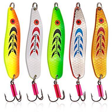 Sougayilang Spinner Spoon Fishing Tackle Lures and Baits