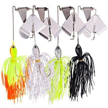 Sougayilang Fishing Lures Buzzbait Spinnerbait Jigs Lures For Pike