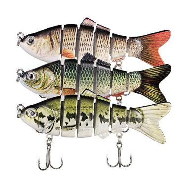 Truscend Fishing Lures Crankbait Jointed Trout Swimbait Mustad Hooks