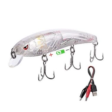 Truscend JerkQueen Trout Fishing Lures, Twitching Lures Minnow Jerkbait Rechargeable