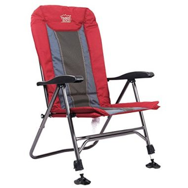 Timber Ridge Folding Heavy Duty Chair with Adjustable Reclining Padded Back