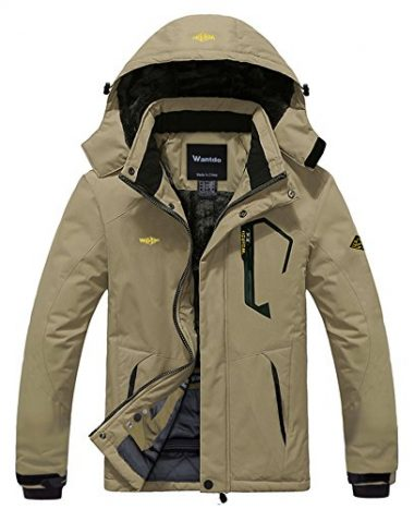 Wantdo Men's Mountain Waterproof Windproof Rain Jacket