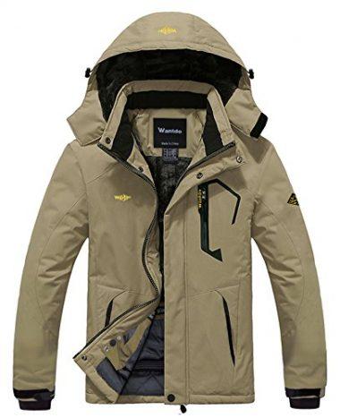 Wantdo Men's Mountain Waterproof Windproof Rain Jacket
