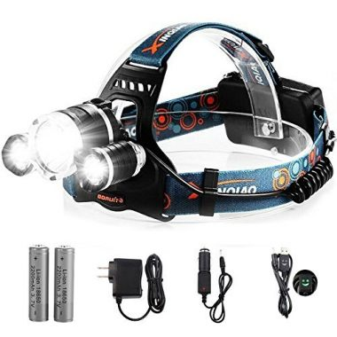 Totobay Waterproof LED Flashlight Fishing Headlamp