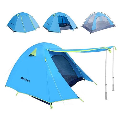 WEANAS 2 3 4 Person 3 Season Double Layer Waterproof Tent