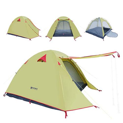 WEANAS 2, 3, 4-Person 3-Season Double Layer Waterproof Tent