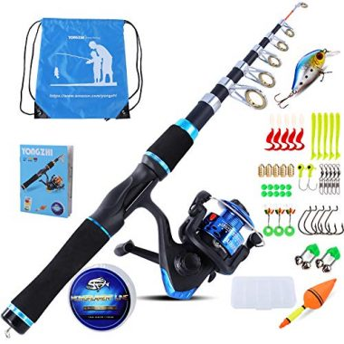 YONGZHI Kids Fishing Pole with Spinning Reels