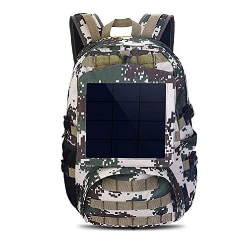 HOWO Camouflage Solar Backpack