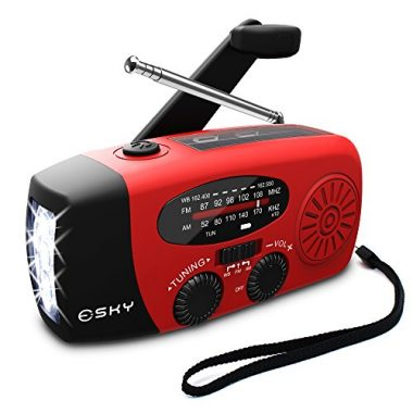 Portable Emergency Weather Radio by Esky [2018 Upgraded]