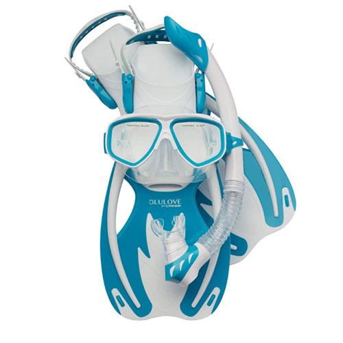 Cressi Rocks Mask, Snorkel & Fins Kid Snorkel Set