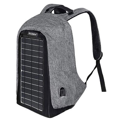ECEEN Anti-Theft Solar Powered Solar Backpack